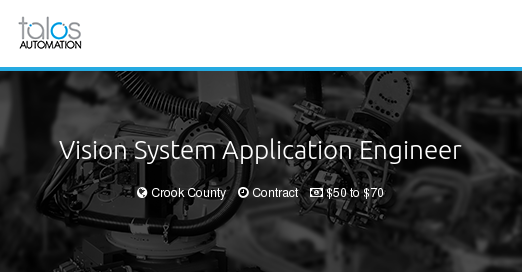 Vision System Application Engineer - Talos Automation