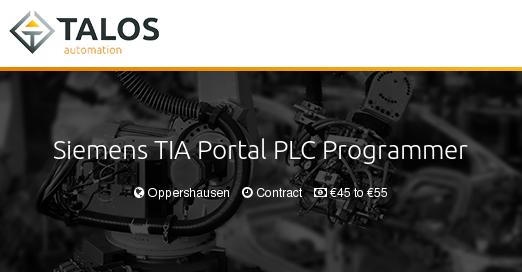 Siemens TIA Portal PLC Programmer - Talos Automation